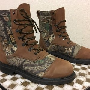 RED WING STEEL TOE CAMO HUNTING BOOTS10 D